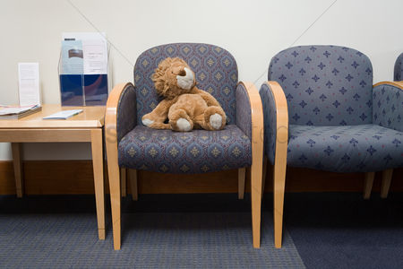 Lion : Toy lion in hospital waiting room