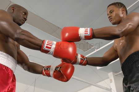 Match : Two boxers before fight