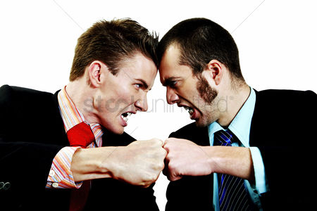 Mad : Two businessmen in an argument