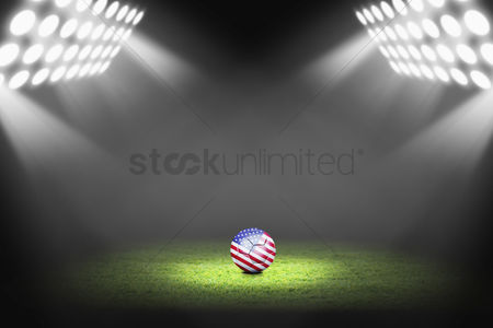 Match : United states ball on the soccer field