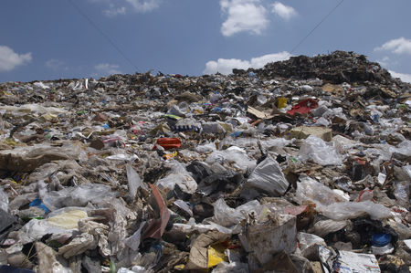 Pile : Waste at landfill site
