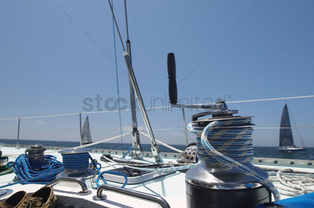 Rope : Winch on yacht