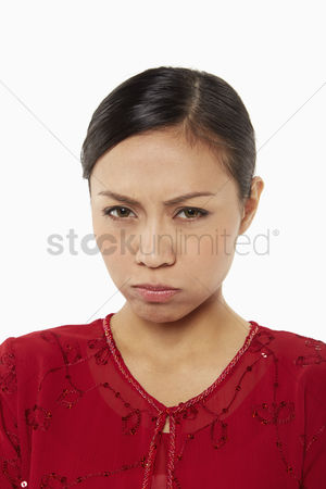 Traditional clothing : Woman in traditional clothing with a disappointed look