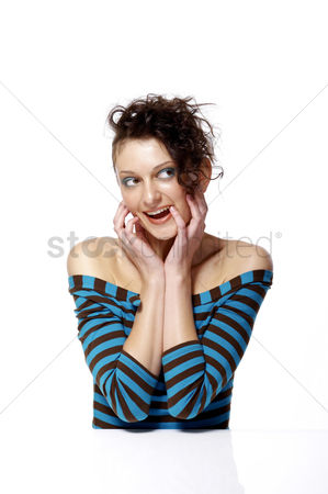 Excited : Woman looking happy