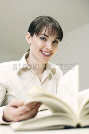 Excited : Woman reading