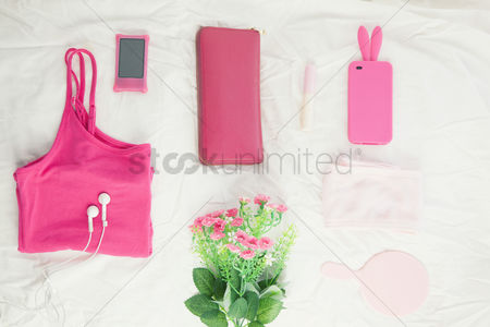 Sets : Woman s accessories on white background