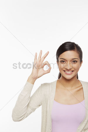 Malaysian indian : Woman showing hand gesture