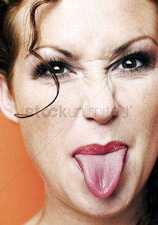 Lively : Woman sticking out her tongue