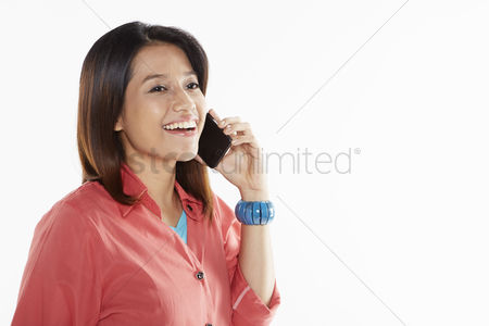 Asian : Woman talking on the phone