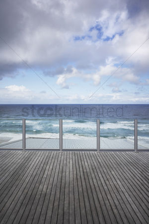 Moody : Wooden dock and moody sky