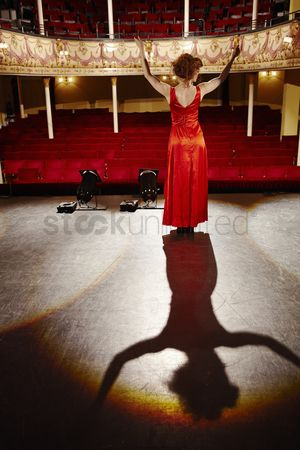 Arts : Young woman on stage